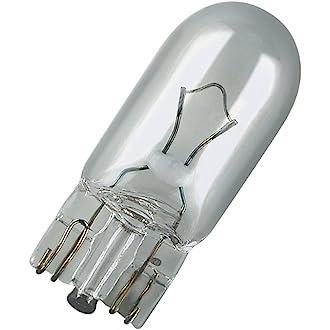 Bombillas T10 w5w  12V 5W WEDGE casquillo vidrio W 2,1 x 9,5d faros luces coches