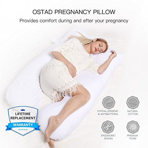 Pregnancy Pillow – U-Shaped Body Pillow for Maternity & Nursing | Luxurious Full Support for Resting or Sleeping on Your Back, Side or Any Natural Position | Relief for Hip & Back Pain, Sciatica