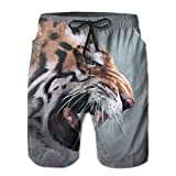 XIYX Tiger Painting Men's Classic Fit Summer Shorts Swim Trunk...