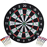 Dartboards, Official Competition Bristle Steel Tip Dartboard Set with Staple-Free Razor Thin Metal Spider Wire, Increased Scoring, Reduced Bounce Outs, Self-Healing Premium-Grade Sisal Board by Ashnna