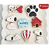 Astra Gourmet 8-Piece Stainless Steel Dog Snoopy Series Cookies Cutters Set for Kids, Fondant Mold, Mousse Cake Mold Birthday Cake Decoration Baking Tools