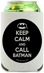 Batman Keep Calm and Call Can Cooler - Drink Sleeve Hugger Collapsible Insulator - Beverage Insulated Holder