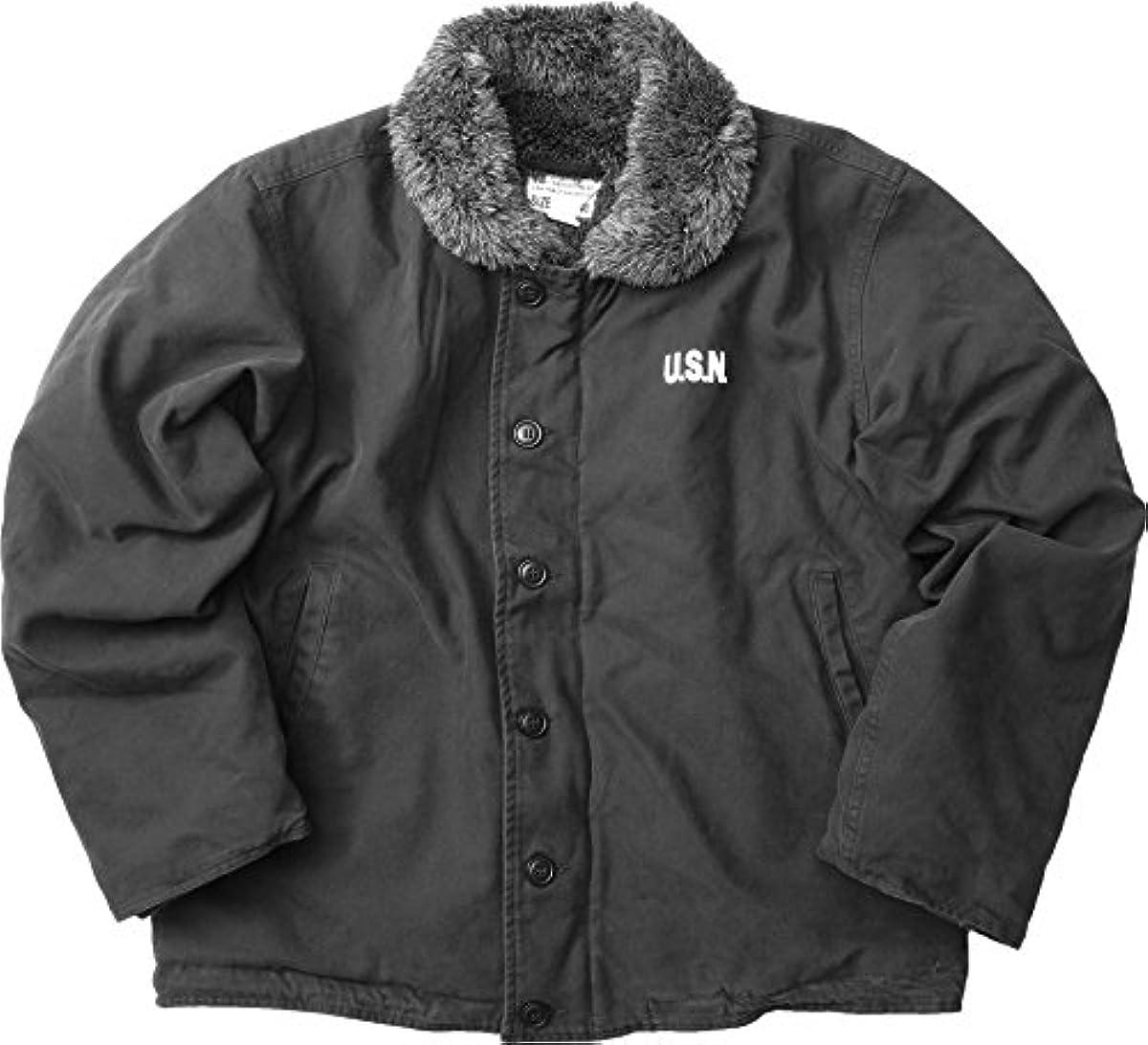 [해외] YMCLKY오리지널 미군 퍼터입 N-1 데크 재킷 워시 가공 블랙 퍼(fur) 신품