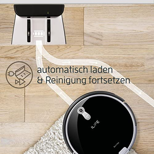 Saugroboter ILIFE A8 Automatischer Roboter 180qm 3D Reinigung für Laminatboden