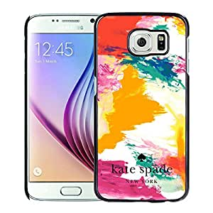 Unique And Nice Designed Kate Spade Cover Case For Samsung Galaxy S6 Black Phone Case 186