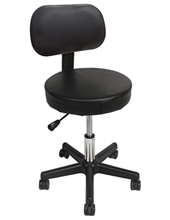 Sensational Swivel Drafting Stool Wahson Black Ergonomic Rolling Chair Adjustable Height Comfy Back Rest 15 Inch Thick Seat Cushion 5 Gravity Wheels For Bralicious Painted Fabric Chair Ideas Braliciousco