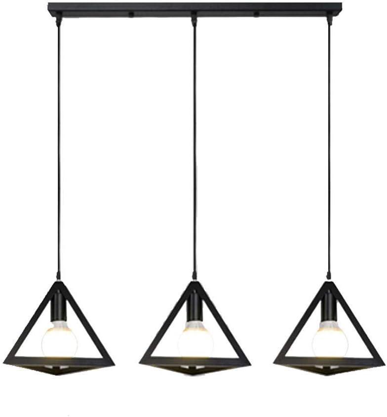 Yeslln Suspension Luminaire G/éom/étrie nordique vintage en fer forg/é Lustre Plafonnier E27 Douille pour Salon Cuisine Chambre, vert