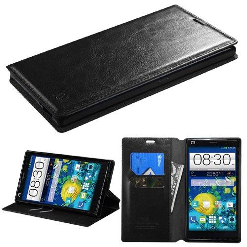 UPC 885126229173, MyBat ZTE Z787 (Grand X Max) MyJacket Wallet with Tray - Retail Packaging - Black