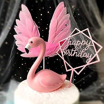 Decoración para tartas de flamenco rosa para baby shower ...