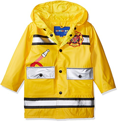 Wippette Toddler Boys Printed Raincoats, Fireman Gold-Matte, 3T