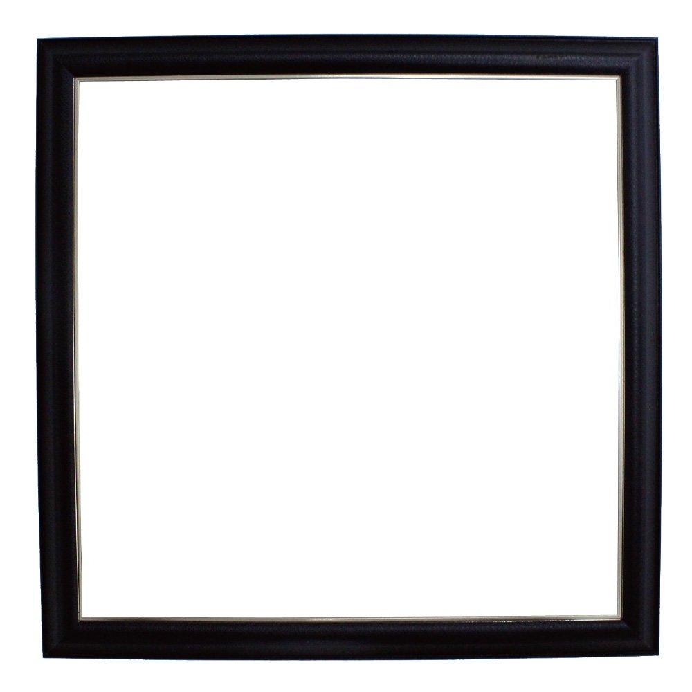アルナ 額縁 フレ 正方形 アルミ ブラックレザー 11522 700×700mm B01A83TIO2 700×700mm 700×700mm