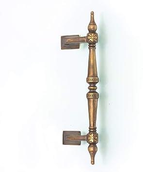 Antikas - tirador puerta de casa de latón fuerte - tirador estilo antiguo - manillon grande alta calidad: Amazon.es: Bricolaje y herramientas