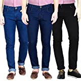 FunTree Men's Stretchable Multicolor Slim Fit Jeans