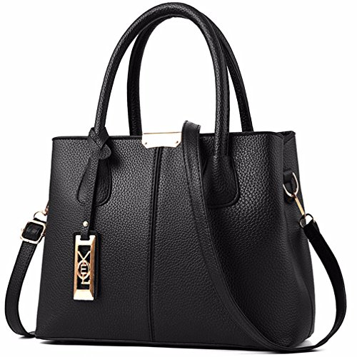 COCIFER Women Top Handle Satchel Handbags Shoulder Bag Tote Purse Messenger - Zip Top Purse Tote