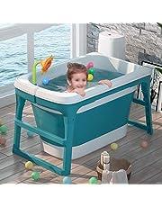 JIAJULL Adulto Independiente bañera Plegable, Plegable Bañera, plástico Portable Bañera de hidromasaje, Piscina, baño Plegable Barril térmica, Verde