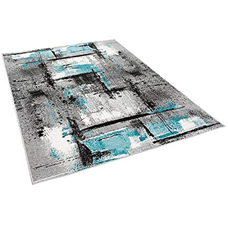 Moderno Grigio Turchese Urbano 5 Dimensioni Samba Tappeto di Design