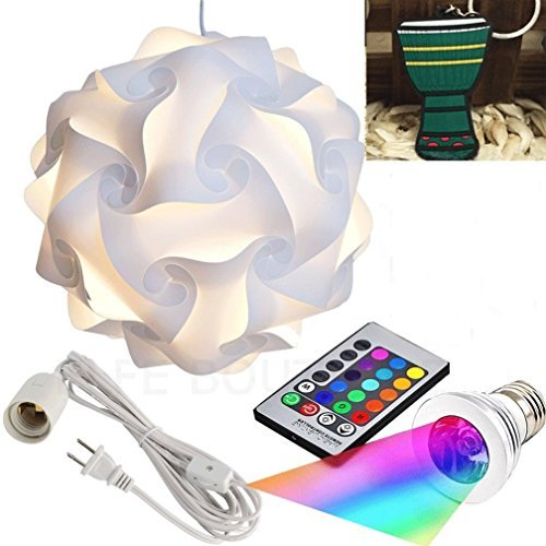 Puzzle Lights with Lamp Cord Kits and Remote Control Bulb, S