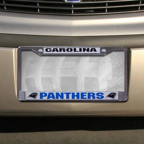 Carolina Panthers NFL Chrome License Plate Frame by Football Fanatics