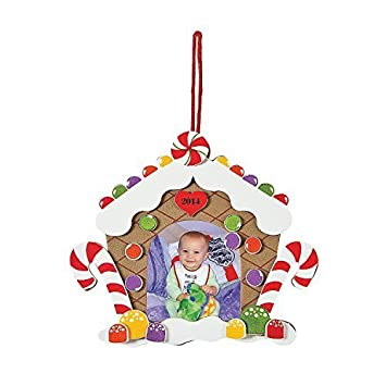 Amazon.com: Foam Christmas Gingerbread House Picture Frame Craft Kit ...