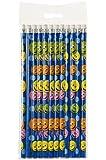 Schnooridoo 12 x Bleistifte lachendes Gesicht Smiley Kindergeburtstag Mitbringsel Give Away