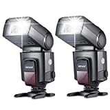 Neewer 2 Pieces TT560 Flash Speedlite for Canon Nikon Panasonic Olympus Fujifilm Pentax Sigma Minolta Leica and Other SLR Digital SLR Film SLR Cameras and Digital Cameras with Single-contact Hot Shoe