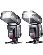 Neewer® Flash TT560 Speedlite avec Sabot pour Canon Nikon Panasonic Olympus Fujifilm Pentax Sigma Minolta Leica et Autres DSLR Appareils Photo Reflex Numériques (2 Pièces)