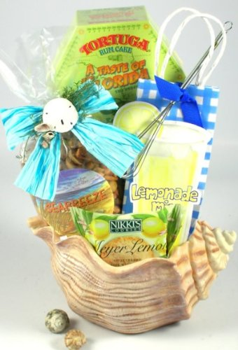 Seashells in the Sunshine Ocean Theme Gourmet Gift Basket | Gift for the Beach Lover (Key West Gift Baskets)
