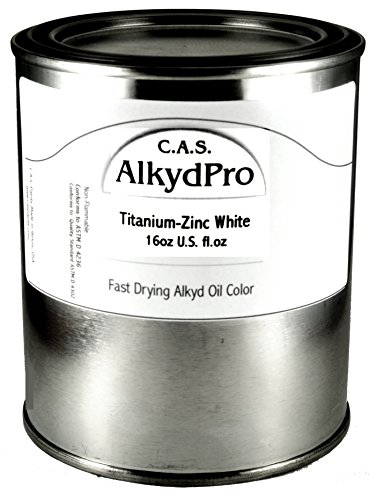 C.A.S. Paints AlkydPro Fast-Drying Oil Color Paint Can, 16-Ounce, Titanium-Zinc White ()