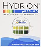 Micro Essential Laboratories Ph. Test Tape Dispenser Hydrion Papers Strips Made for Saliva Or Urine Testing-Range Is in 2 Intervals & From 5.5 To 8.0, Check Body for Alkaline or Acid Environment, Approx. 100 Tests