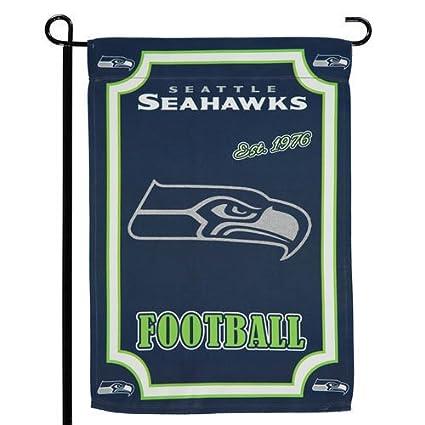 Seattle Seahawks EG PV Premium 2 Sided Suede Garden Flag House Banner  Football