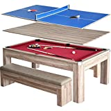 Hathaway Newport 7 ft. Pool Table Combo Set with Benches