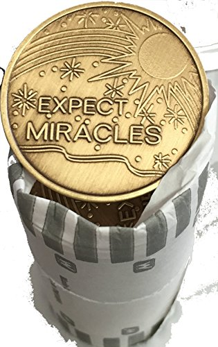Bulk Lot of 25 Expect Miracles Bronze Medallions Chip Wholesale Set - Miracle Bit Set