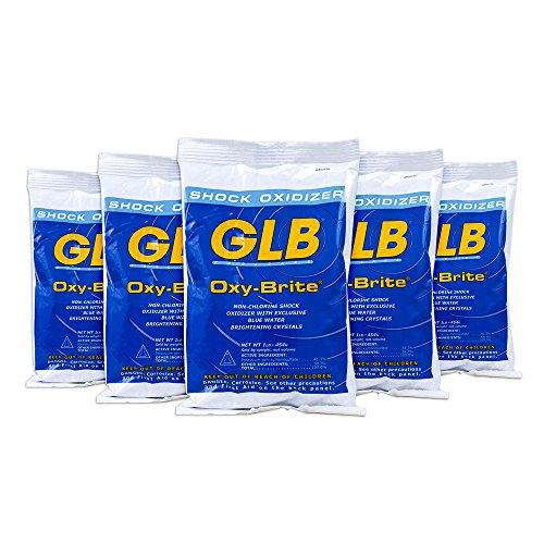 GLB 71414A-05 Oxy-Brite Non-Chlorine Shock Oxidizer (5 Pack), 1 lb
