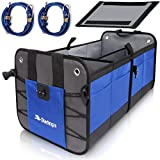 Starling's Car Trunk Organizer Durable Collapsible Adjustable Compartments, Blue
