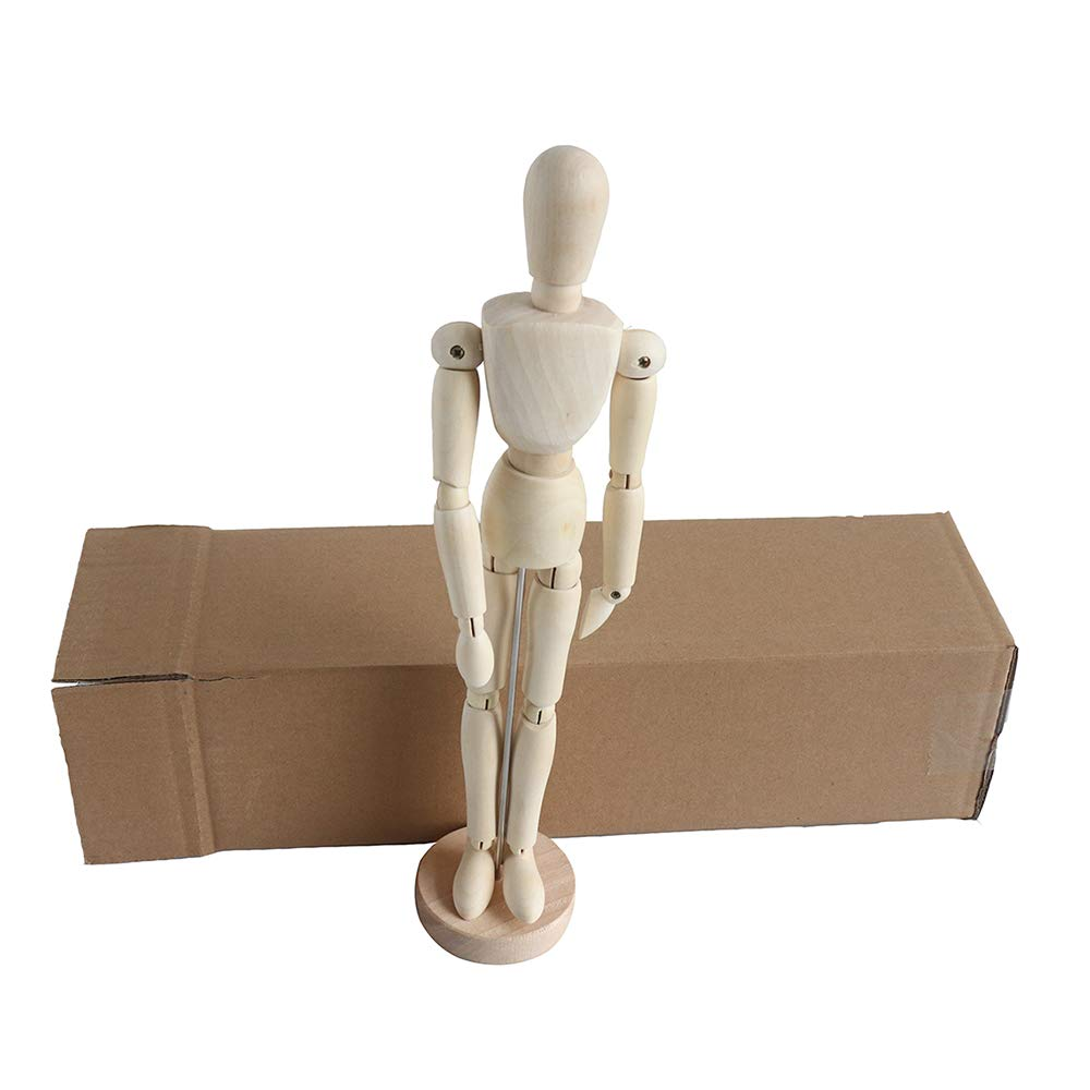 Human Drawing Figure Jointed Mannequin Wooden Model Wood Human Art Manikin Posable for Artist Sketching Posing Doll//Home Decoration 12 Inch