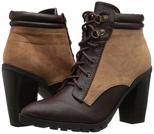 Qupid Women's Brown 05 Boot Wicker 8SWrpF8