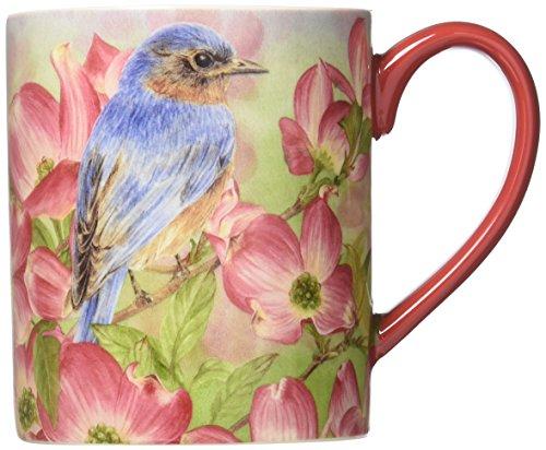 Lang Bluebird Of Happiness Mug by Jane Shasky, 14 oz, Multicolored