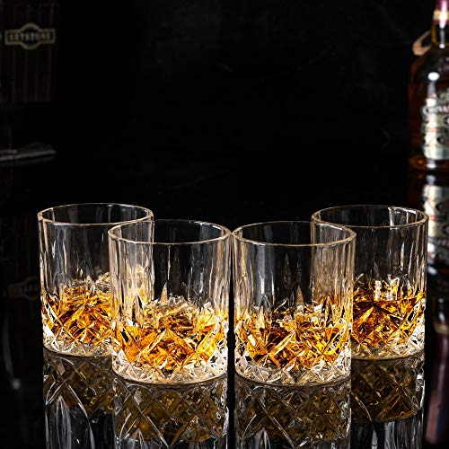 KANARS Double Old Fashioned Whiskey Glasses With Luxury Gift Box - Rocks Barware For Scotch, Bourbon and Cocktail Drinks - Set of 4 by KANARS (Image #4)