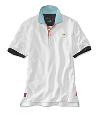a8ae1b70 Orvis Men's Signature Polo Contrast-Trim Shirt, White, Xx Large ...