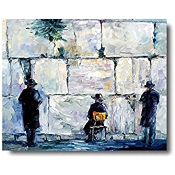 iFine Art ' Jewish ' Wall Art Framed Oil Paintings Printed on Canvas for Home Decorations Home Decor Modern Artwork Hanging for Living Room Bedroom, Ready to Hang