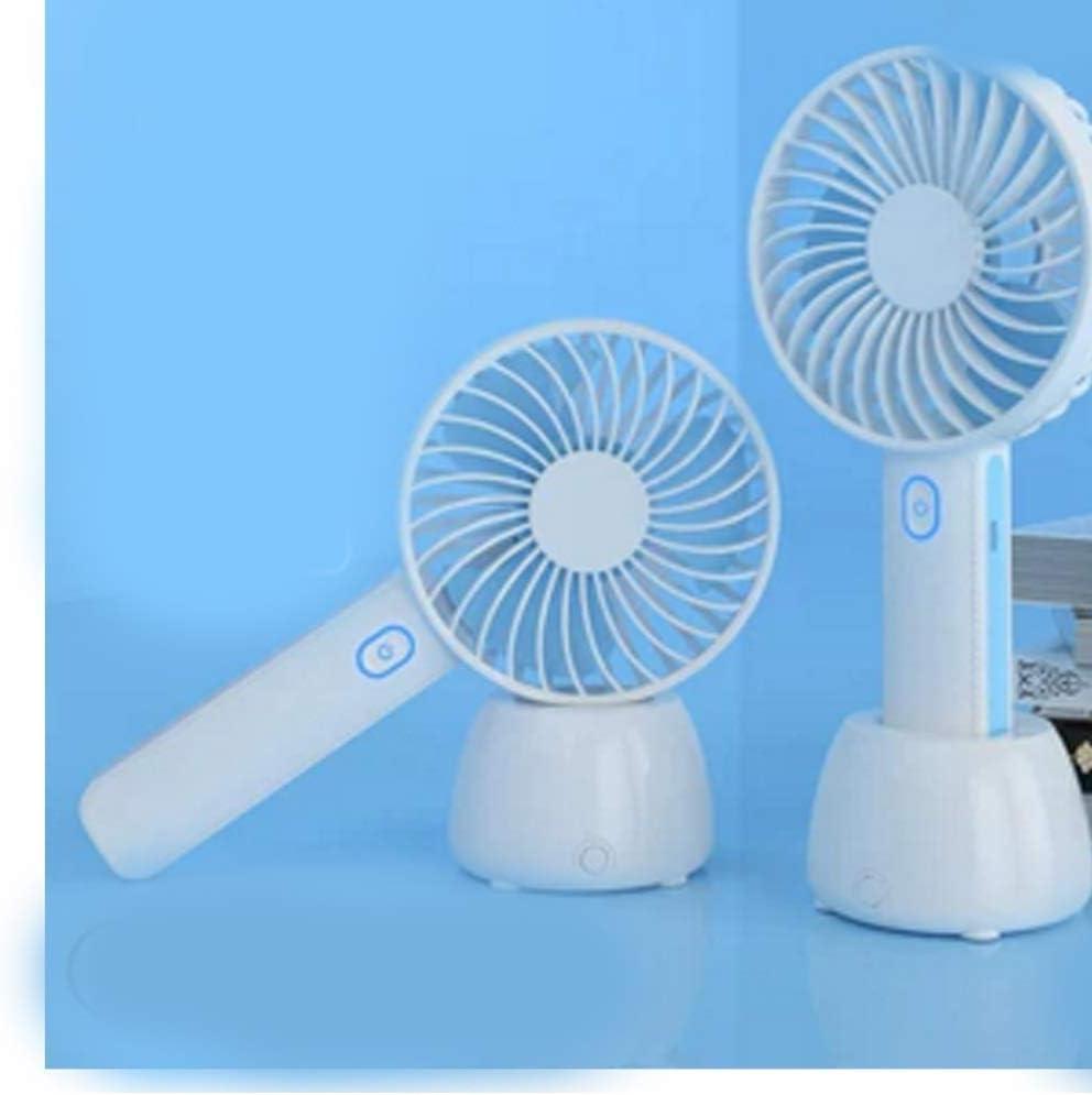 Color : Blue no Light Air Cooler Mini USB Table Fan Portable Desktop Fan Office Home Outdoor Personal Fan Night Light Optional