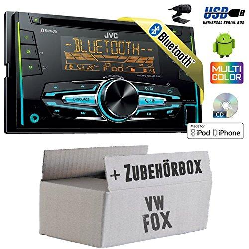 VW Fox - JVC KW-R920BT - 2DIN USB Bluetooth Autoradio - Einbauset JUST SOUND best choice for caraudio