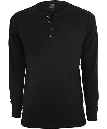 a7ef1e5fc5e9 Urban Classics Men's TB276 Long Sleeve Henley T Shirt at Amazon Men's  Clothing store: