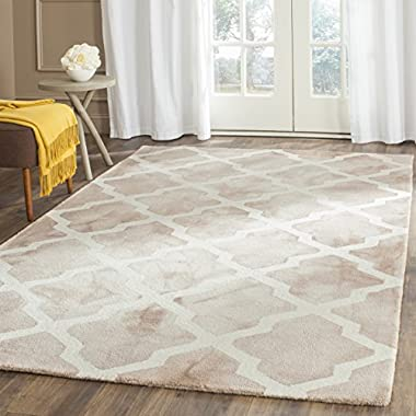 Safavieh Dip Dye Collection DDY540G Handmade Geometric Moroccan Watercolor Beige and Ivory Wool Area Rug (8' x 10')