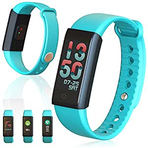 Indigi Bluetooth Smart Wrist Bracelet Watch Heart Rate Monitor Health Fitness Tracker - Green