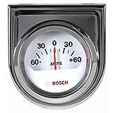"Bosch SP0F000058 2"" Style Line Ammeter Gauge (White Dial Face, Chrome Bezel)"