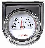 Bosch SP0F000058 2'' Style Line Ammeter Gauge (White Dial Face, Chrome Bezel)