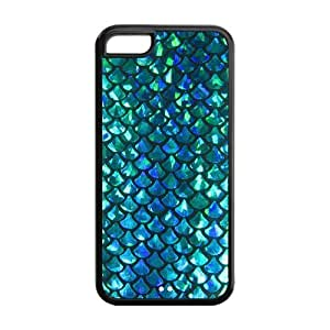 Custom Fashion Protector Mermaid Scales Snap On Back Hard Cover Case For iPhone 5c