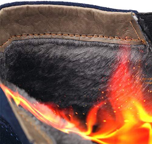 Boots Stivali Blue2 Da Uomo Classici Chelsea Myxua Alto Aiuto Desert Traspirante Oxblood xTORnYwq