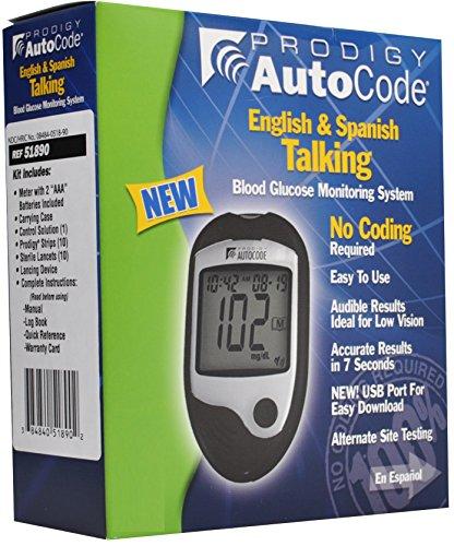 Prodigy Autocode Talking Blood Glucose Monitoring Meter Kit
